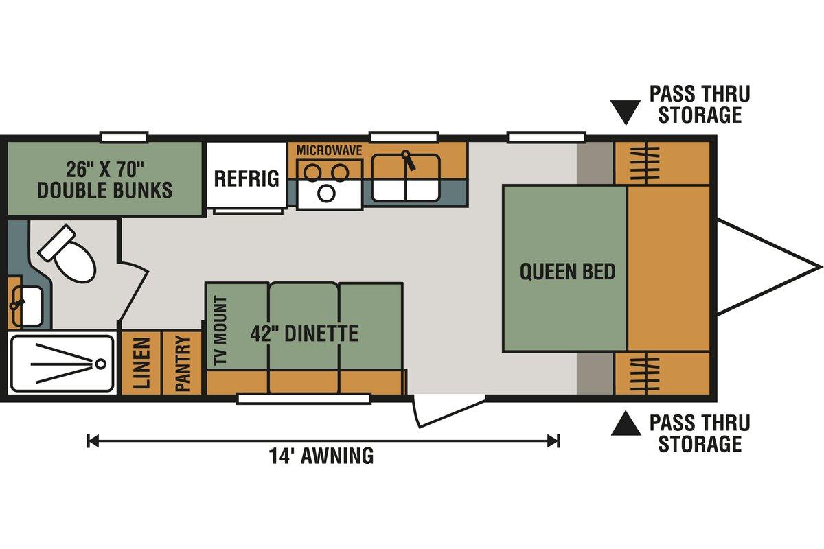 210BHLE floorplan image