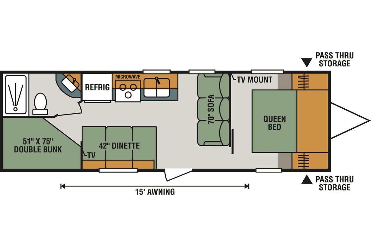 260BHLE floorplan image